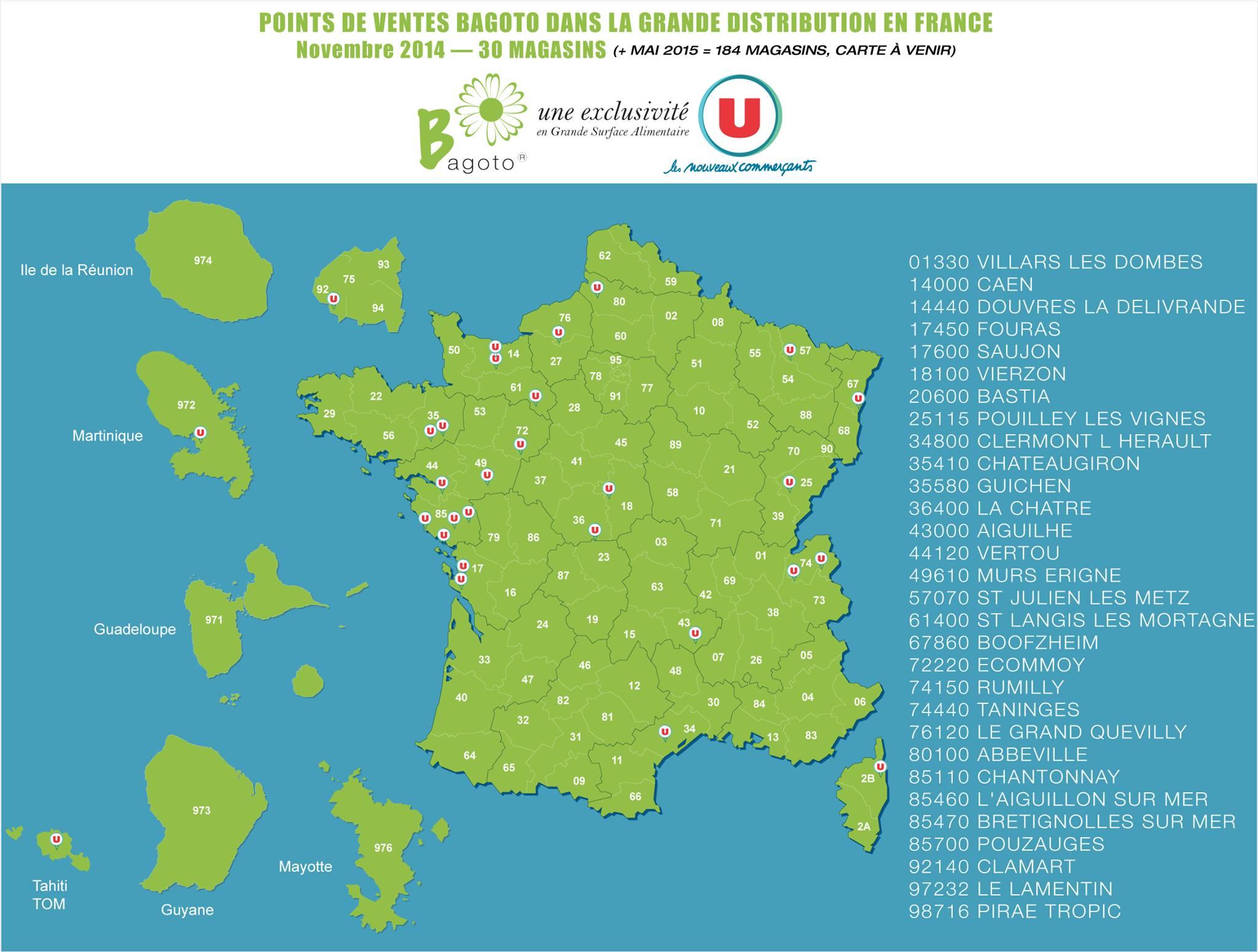 Carte bagoto systeme u 11 2014 bagoto - Liste des magasins d usine en france ...