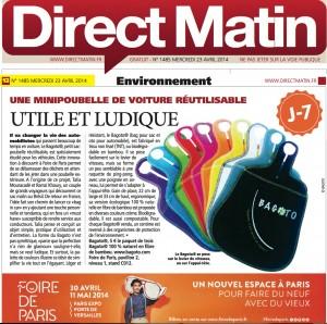 "Article presse ""Direct Matin"""