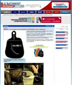 """Article presse """"Le BATIMENT Artisanal"""" .com"""