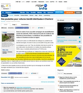 "Article presse ""rtbf.be info"""
