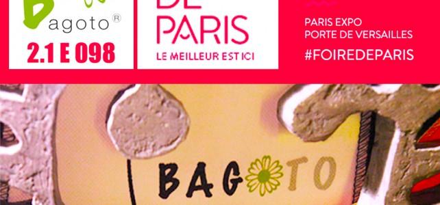 Bagoto à la Foire de Paris c'est du 29 avril au 8 mai 2016