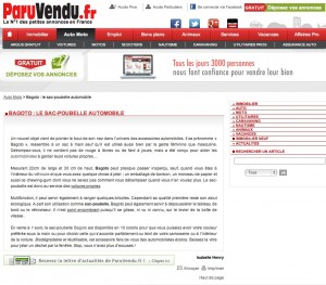 "Article presse ""ParuVendu.fr"""