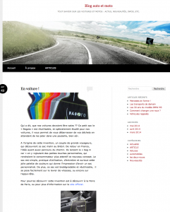 "Article presse ""Blog auto et moto"""