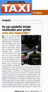 "Article presse ""L'Officiel du Taxi"""