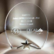 Bagoto labelisée entreprise E-RSE-CECAP/CCI 94